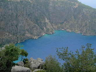 Lycian Way - The Lycian Way passes above Butterfly Valley.