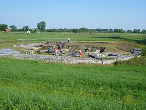 Marcomannic Wars - Celemantia- a Roman castellum on the left bank of Danube in Slovakia.