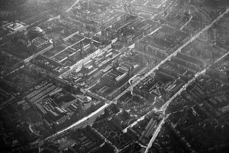 Kensington - A picture of Kensington taken by scientist Sir Norman Lockyer in 1909 from a helium balloon. (This is a mirrored image of Kensington)