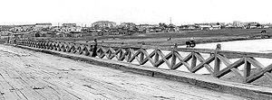 Choibalsan (city) - Bridge over the Kherlen River in Choibalsan (taken in 1972)