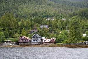 The shoreline of Ketchikan