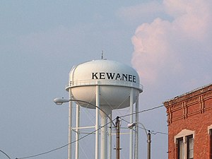 Kewanee, Illinois - Kewanee water tower