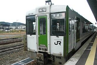 Kazuno-Hanawa Station - KiHa 112-114 at Kazuno-Hanawa Station