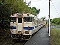 Kiha 47 8077 at Kaimon Station.jpg