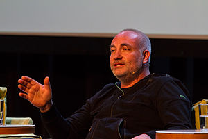 "Bodnia at the Nordiske Mediedager (""Nordic Media Festival"") in May 2012"