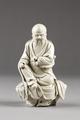 Kinesisk porslinsfigur troligen föreställande en taoistisk helig, gjord på 1600-talet - Hallwylska museet - 95574.tif