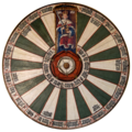King Arthur's Round Table at Winchester Castle, Winchester, Hampshire, England.png