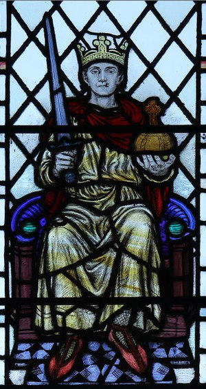 Joan Howson - Stained Glass Window in St Nectan's Church. Stoke, Hartland. Devon.
