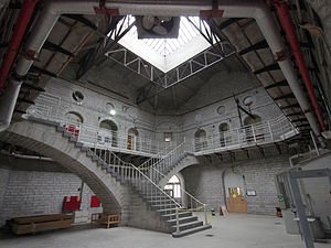 Kingston Penitentiary - Unique architecture under dome connecting the shop buildings