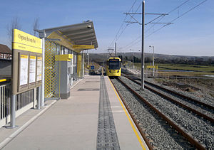 Kingsway Business Park tram stop - Kingsway Business Park tram stop, on its opening day