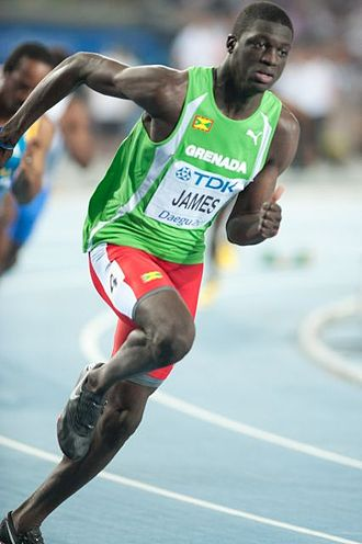 2011 World Championships in Athletics - Men's 400 m champion Kirani James of Grenada