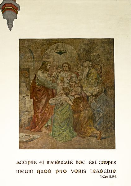 Fresco by Jean-Pierre Beckius in the choir of the church in Bissen