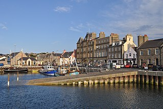 Kirkwall town in Orkney Islands, Scotland