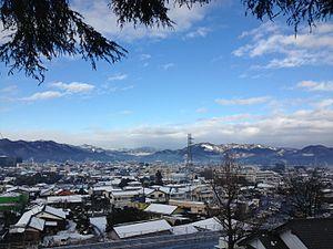 Kiryū, Gunma - View of Kiryū from the south looking north
