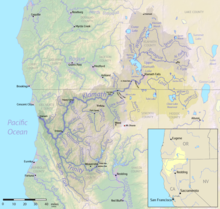 List Of Rivers Of California Wikipedia - Map of california rivers