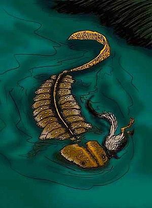 Koolasuchus - Restoration of Koolasuchus preying on Leaellynasaura