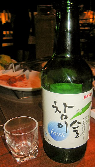 Soju - A bottle of Chamisul soju