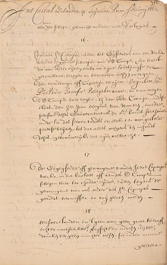 Dutch Formosa - Peace Treaty of 1662, between Governor Coyett and Koxinga