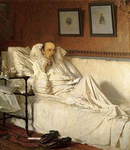И.Н.Крамской. Н. А. Некрасов в период «Последних песен». 1877—1878 годы