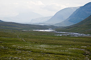 The kungsleden trail in swedish lapland