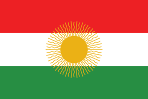National symbols of the Kurds - Image: Kurdish flag (Khoiboun)