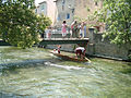 L'Isle-sur-la-Sorgue Nego-chin boat race - Underbridge technique.jpg