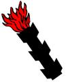 Lángoló ágcsonk (heraldika) fr -- écot embrasé.PNG