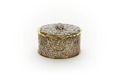 Låg, cylindrisk ask med lock, förgyllt silver med oförgylld filigran - Skoklosters slott - 92172.tif
