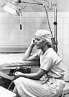 LT Alva Harrison, NC, USN Saigon (1966) after18 hr surgery schedule