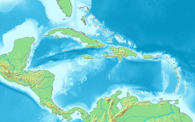 Location map Caribbean