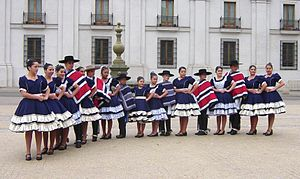 Cueca - Youth dance group, Santiago.