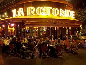 Montparnasse - La Rotonde at night 2007