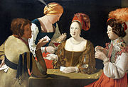 The Cardsharp with the Ace of Clubs by Georges de La Tour, c. 1620-1640