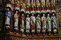 La façade de la Cathédrale Notre-Dame d'Amiens illuminée avec les apôtres.JPG