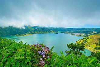 São Miguel Island - The Sete Cidades lagoon in São Miguel Island.