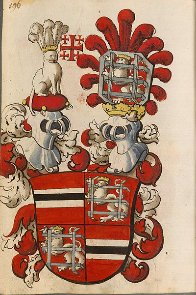 Schleibler's book of arms, new part of the arms of the Laiming family