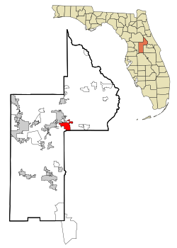 Lake County Florida Incorporated and Unincorporated areas Mount Dora Highlighted.svg
