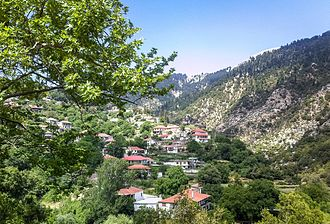 Lampeia - Lampeia (Divri) village, partial view of village.