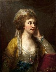 Johann Baptist von Lampi the Elder: Portrait of Kordula Potocka nee Komorowska dressed à la turque.