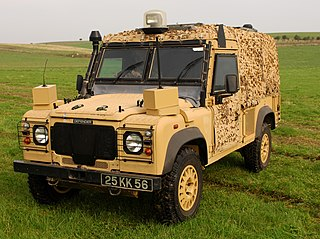 Snatch Land Rover protected patrol vehicle