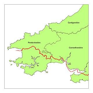 Landsker Line Demarcation in Wales