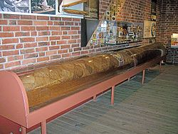 World's largest cigar at the Tobacco and Matchstick Museum in Skansen, Stockholm, Sweden.