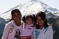Latino Mother and Daughters at Artists Ridge with Mt Baker in Background, Mt Baker Snoqualmie National Forest (31301894703).jpg