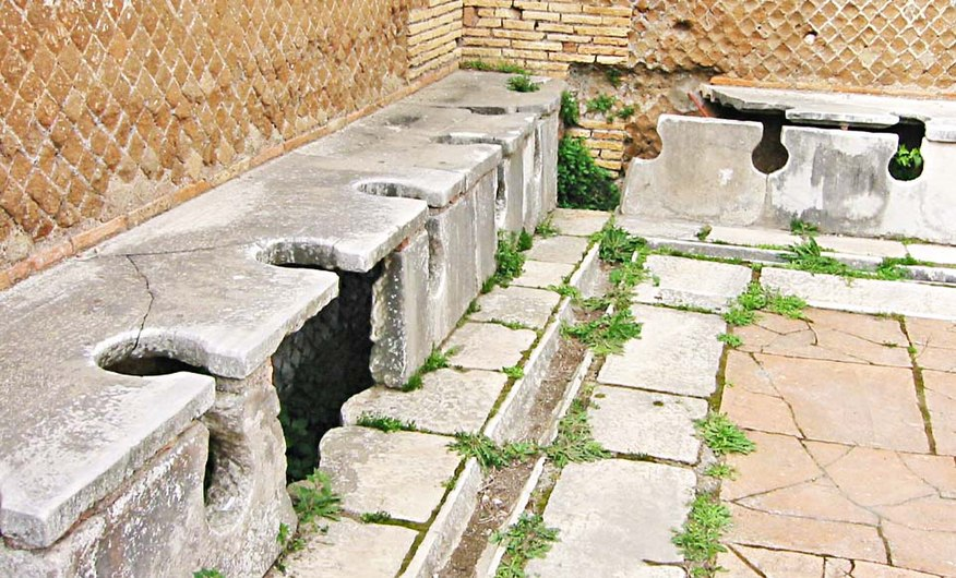 Latrines romaine à Ostie..JPG