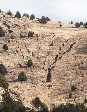 Lava stringer -  Lava Stringers on Catlow Rim in Oregon