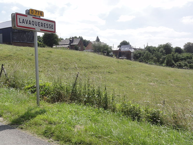 Lavaqueresse (Aisne) city limit sign