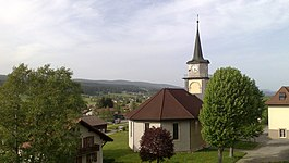 Le Brassus village church