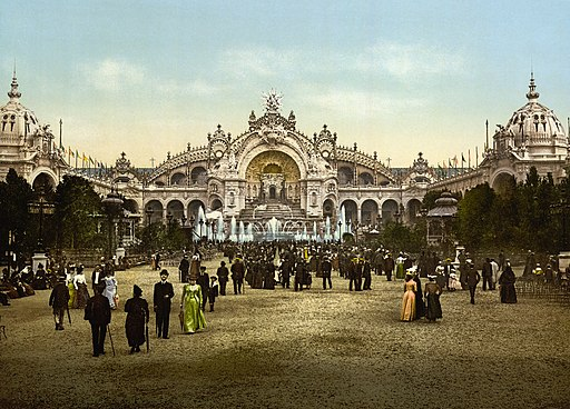 Le Chateau d'eau and plaza, Exposition Universal, 1900, Paris, France