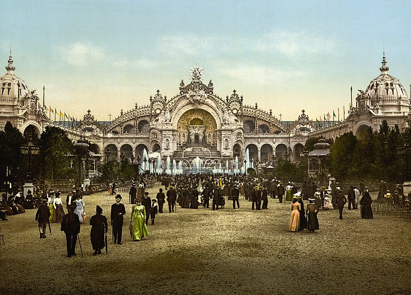 Le Chateau d'eau and plaza, Exposition Universal, 1900, Paris