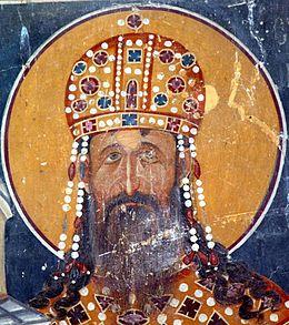 Фреска из краљеве цркве у Студеници,око 1314. године